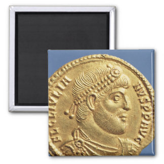 Solidus  of Julian the Apostate  draped 2 Inch Square Magnet