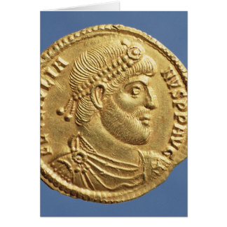 Solidus  of Julian the Apostate  draped Card