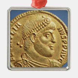 Solidus  of Julian the Apostate  draped Metal Ornament