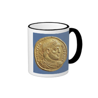 Solidus  of Julian the Apostate  draped Ringer Mug
