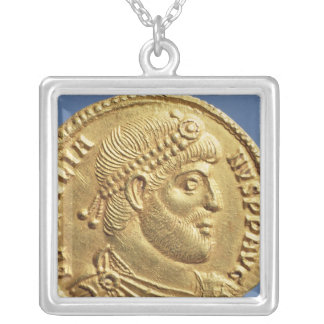 Solidus  of Julian the Apostate  draped Square Pendant Necklace