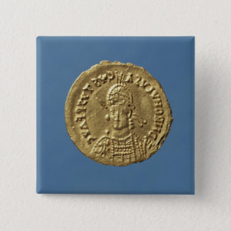Solidus  of Romulus Augustulus Button