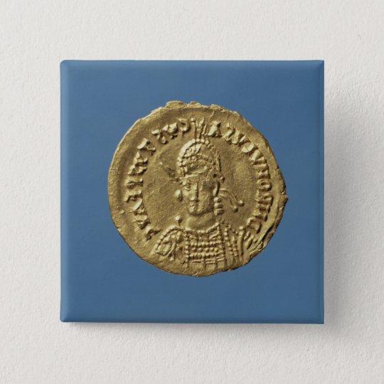 Solidus  of Romulus Augustulus Button