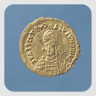 Solidus  of Romulus Augustulus Square Sticker