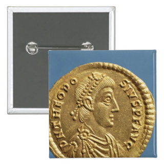 Solidus  of Theodosius I the Great  draped 2 Inch Square Button