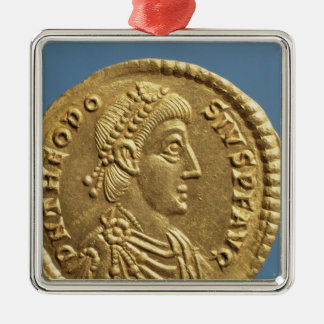 Solidus  of Theodosius I the Great  draped Metal Ornament