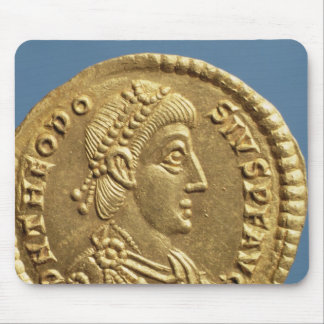 Solidus  of Theodosius I the Great  draped Mouse Pad