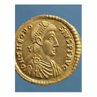Solidus  of Theodosius I the Great  draped Postcard
