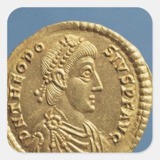Solidus  of Theodosius I the Great  draped Square Sticker