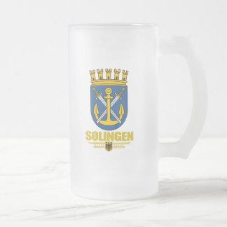 Solingen Frosted Glass Beer Mug