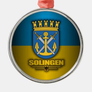 Solingen Round Metal Christmas Ornament