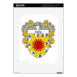 Solis Coat of Arms/Family Crest iPad 3 Decals