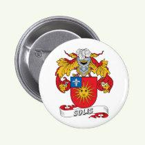 Solis Family Crest Button