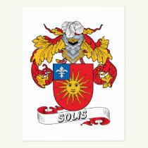 Solis Family Crest Postcard
