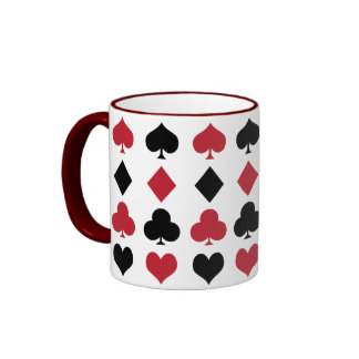 Solitaires Design Ringer Coffee Mug