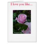 Solitario de rosas felicitacion