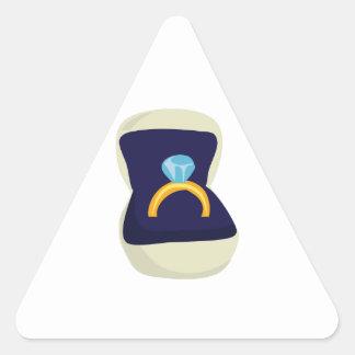 Solitario del diamante pegatina triangular