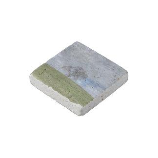 Solitario del roble imán de piedra