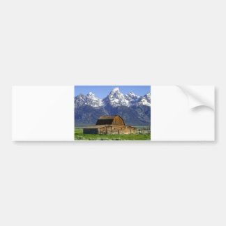Solitary Barn at Grand Tetons Car Bumper Sticker