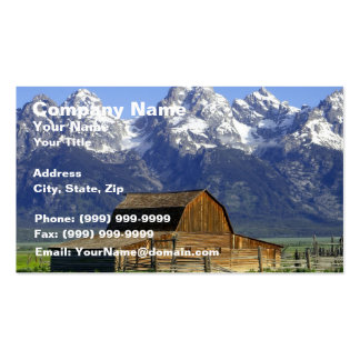 Solitary Barn at Grand Tetons Business Cards