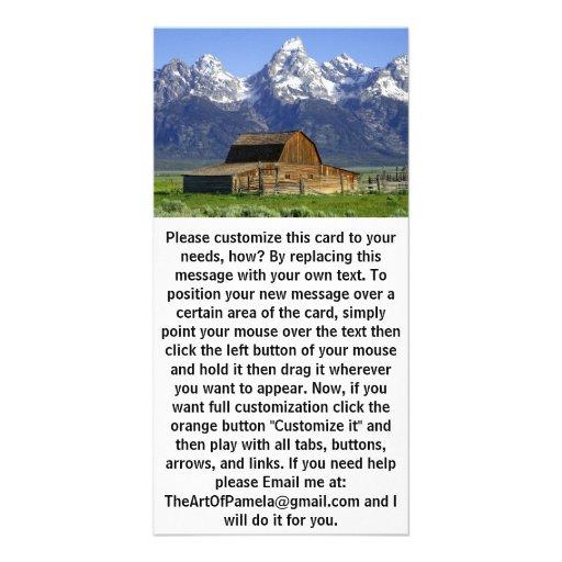 Solitary Barn at Grand Tetons Photo Greeting Card
