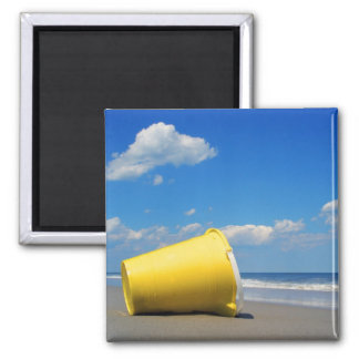Solitary Beach Pail 2 Inch Square Magnet