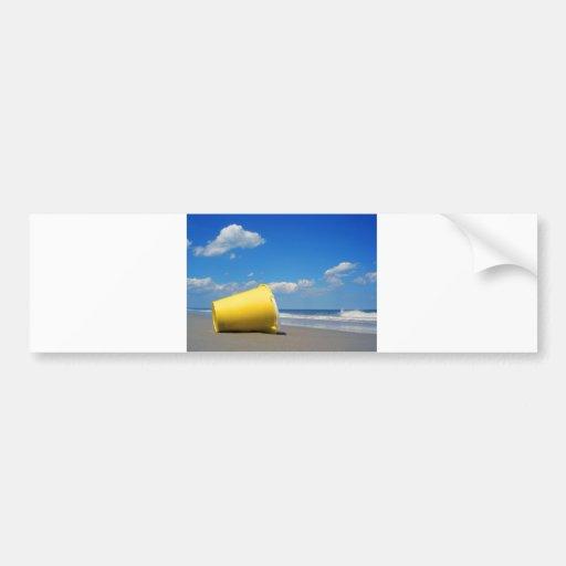 Solitary Beach Pail Bumper Stickers