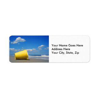 Solitary Beach Pail Label