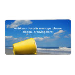 Solitary Beach Pail Personalized Shipping Label