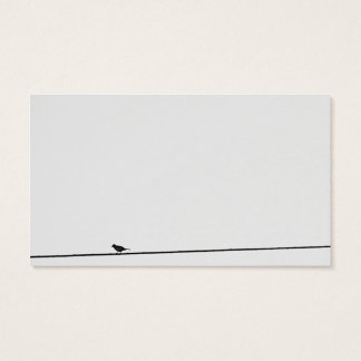 Solitary bird business card
