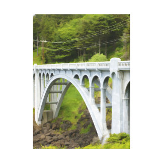 Solitary Bridge Gallery Wrapped Canvas