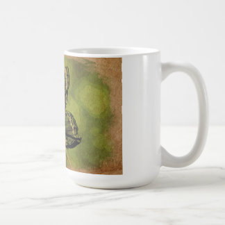 Solitary butterfly classic white coffee mug