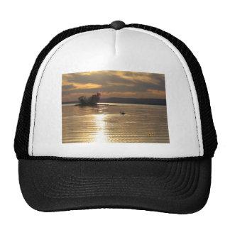 Solitary Kayak on the lake Trucker Hat