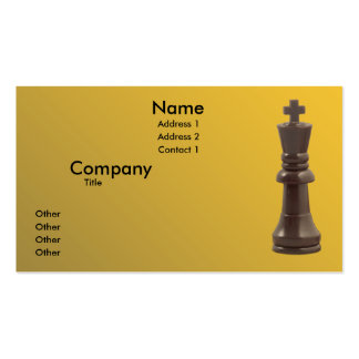 Solitary King Business Cards