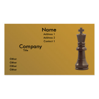 Solitary King Double-Sided Standard Business Cards (Pack Of 100)
