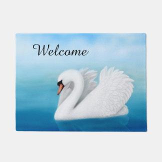Solitary Mute Swan Doormat