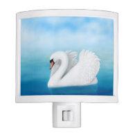 Solitary Mute Swan Night Light
