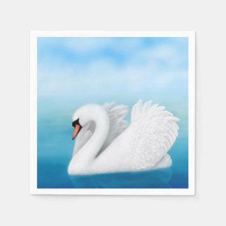 Solitary Mute Swan Paper Napkins