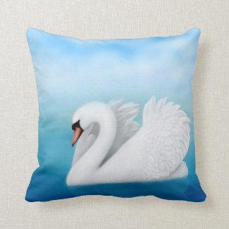 Solitary Mute Swan Pillow
