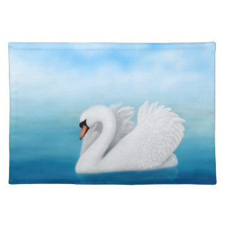 Solitary Mute Swan Placemat