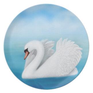 Solitary Mute Swan Plate