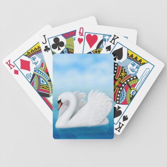 Solitary Mute Swan Playing Cards