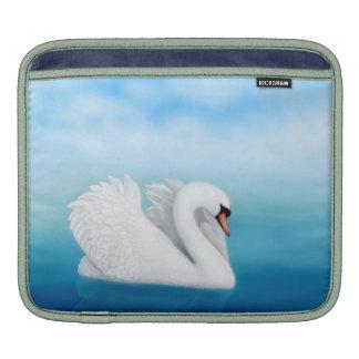 Solitary Mute Swan Rickshaw Sleeve iPad Sleeve
