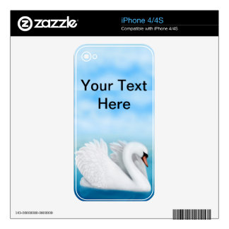 Solitary Mute Swan Zazzle Skin Skin For The iPhone 4S