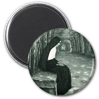 solitary nun magnet