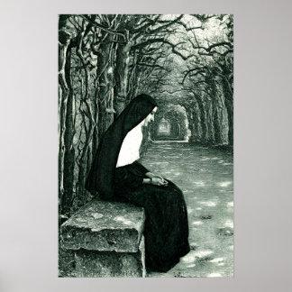 solitary nun poster