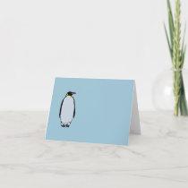 Solitary Penguin Blank Inside Note Card