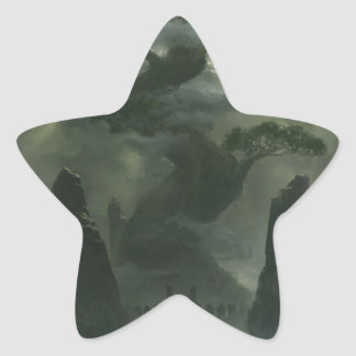 Solitary Place Star Sticker