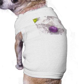 Solitary Purple Christmas Ball Pet T-shirt