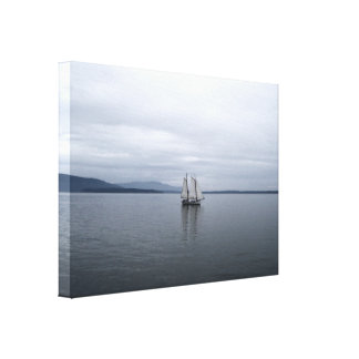 Solitary Sail Canvas Prints